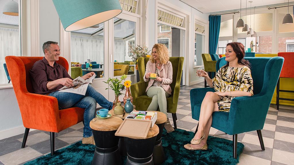 Heerlijk zithoekje bij Villahotel Vlissingen